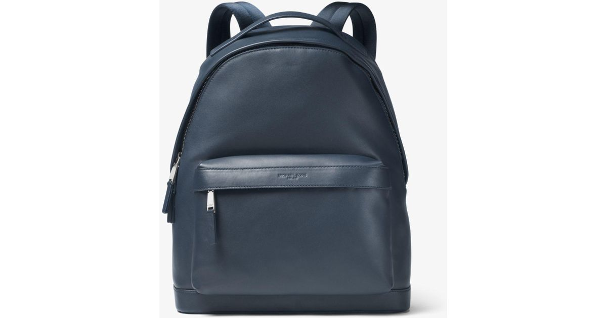 2bf2fb69005e Lyst - Michael Kors Odin Leather Backpack in Blue for Men