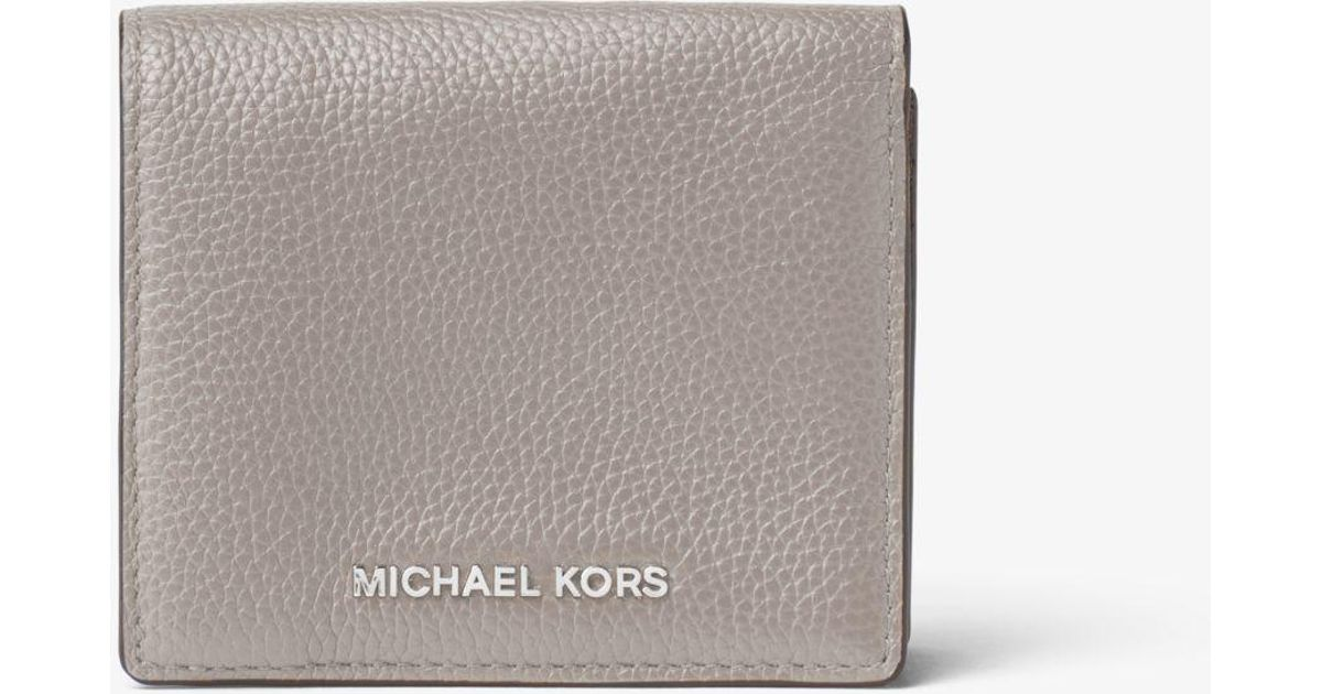 c6dfdb600a8c Michael Kors Mercer Leather Card Case in Gray - Lyst