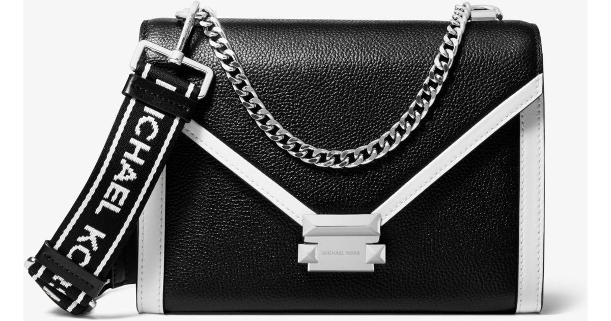bdf932ca556f Lyst - Michael Kors Whitney Large Pebbled Leather Convertible Shoulder Bag  in Black - Save 25%