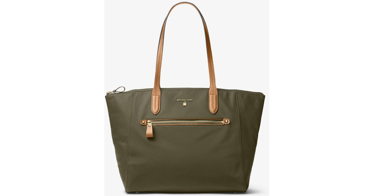 f935f4548704 Michael Kors Kelsey Large Nylon Tote in Green - Lyst
