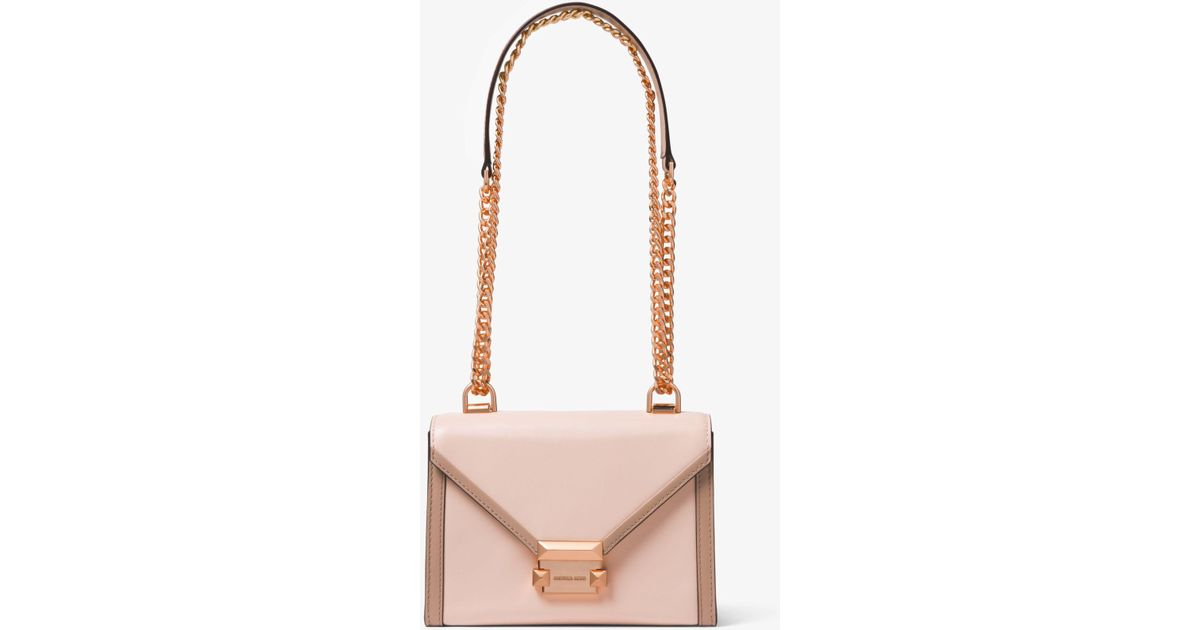 bda3ced1b66c Michael Kors Whitney Small Two-tone Leather Convertible Shoulder Bag - Lyst