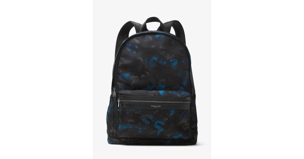 cedcabaeb975 Michael Kors Kent Camouflage Nylon Backpack in Blue for Men - Lyst
