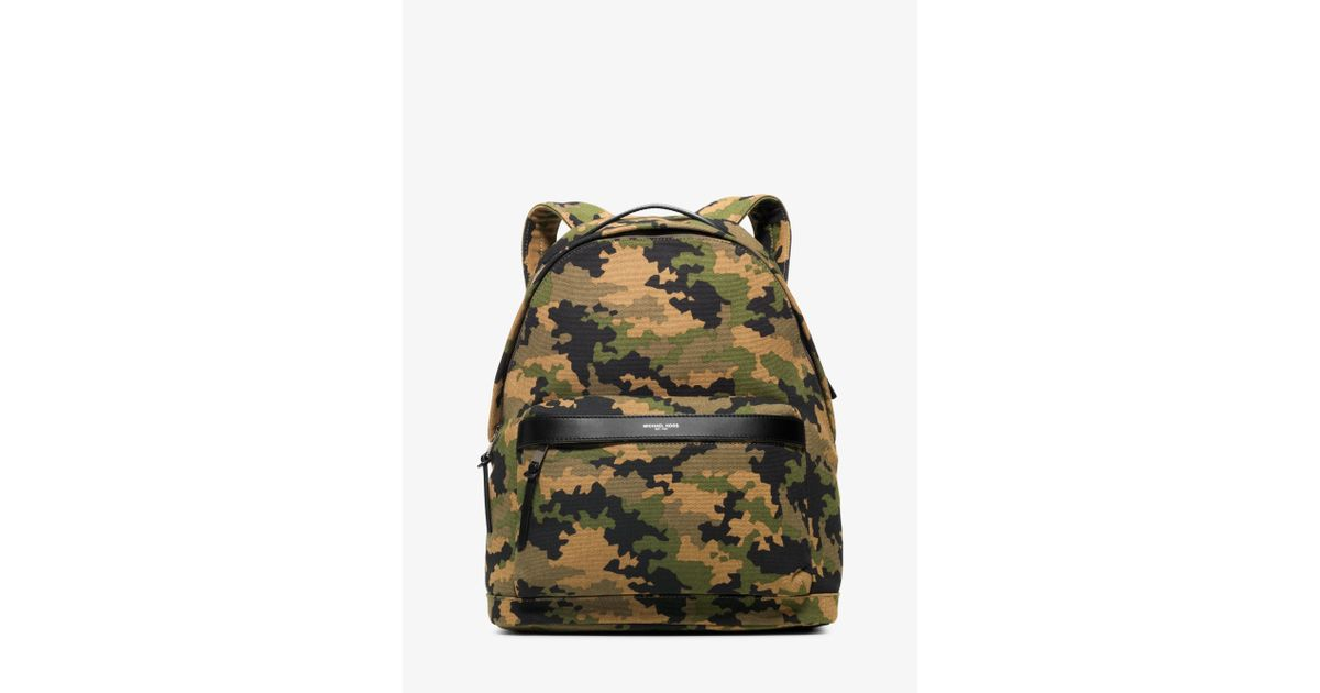 d71ba90151bb Lyst - Michael Kors Grant Camouflage Bonded-canvas Backpack for Men