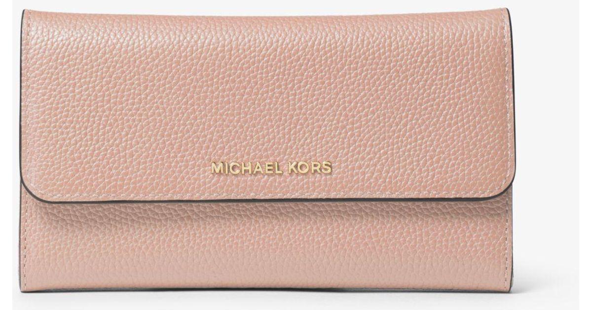 ceb41ab37e8e99 Michael Kors Tri-fold Leather Wallet - Lyst