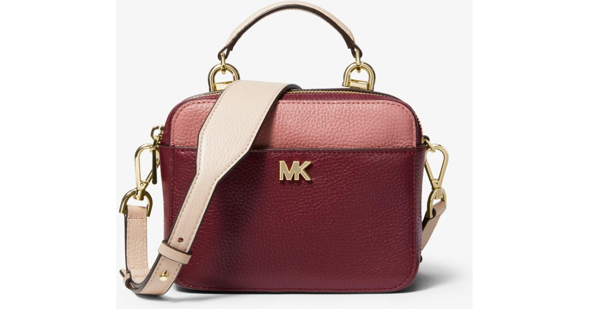 cac54d25736a Lyst - Michael Kors Mott Mini Color-block Pebbled Leather Crossbody