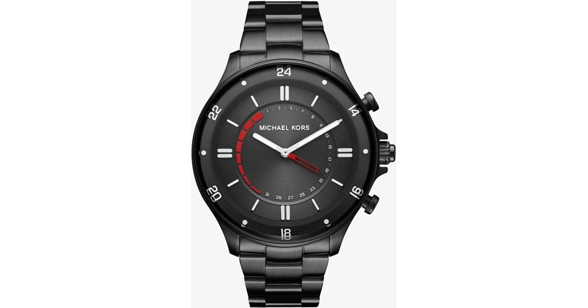 31c144f40bc3 Lyst - Michael Kors Reid Black-tone Hybrid Smartwatch in Black for Men