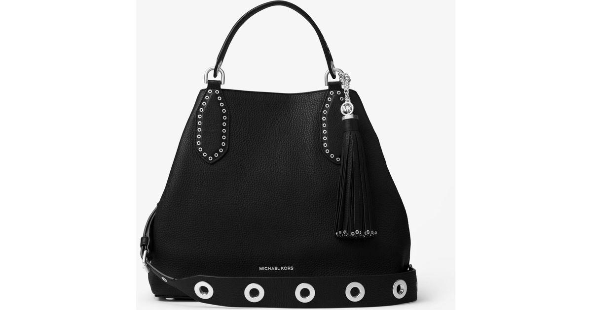 f16b9776e667 ... buy dooney bourke florentine medium satchel lyst michael kors brooklyn  large leather tote in black .