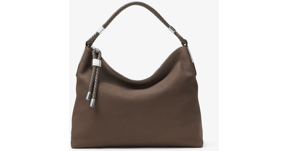 891824d4e26c Michael Kors Skorpios Large Pebbled Leather Shoulder Bag - Lyst