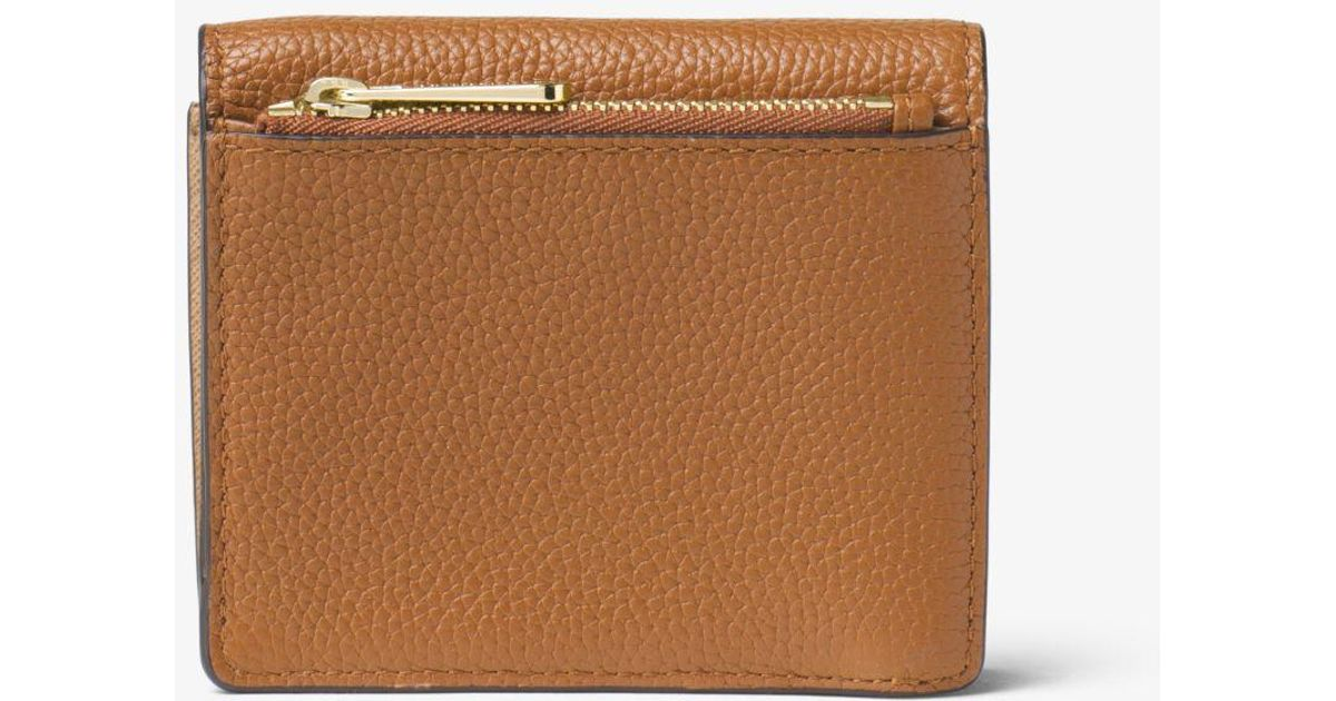 3032db8d03d8 Lyst - Michael Kors Mercer Leather Card Case in Brown