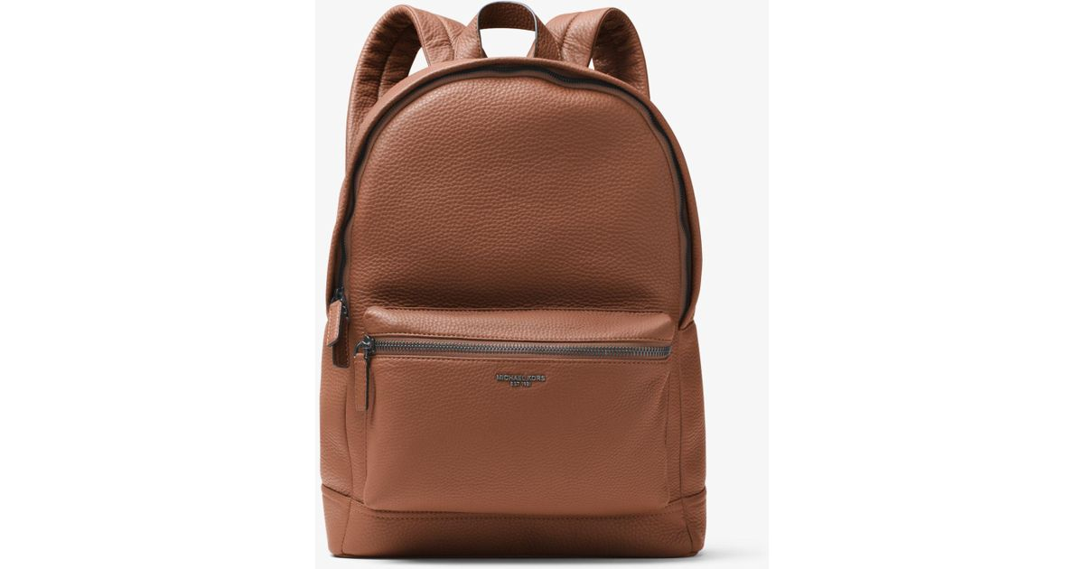 4275fa6defe0 Michael Kors Bryant Leather Backpack in Brown for Men - Lyst