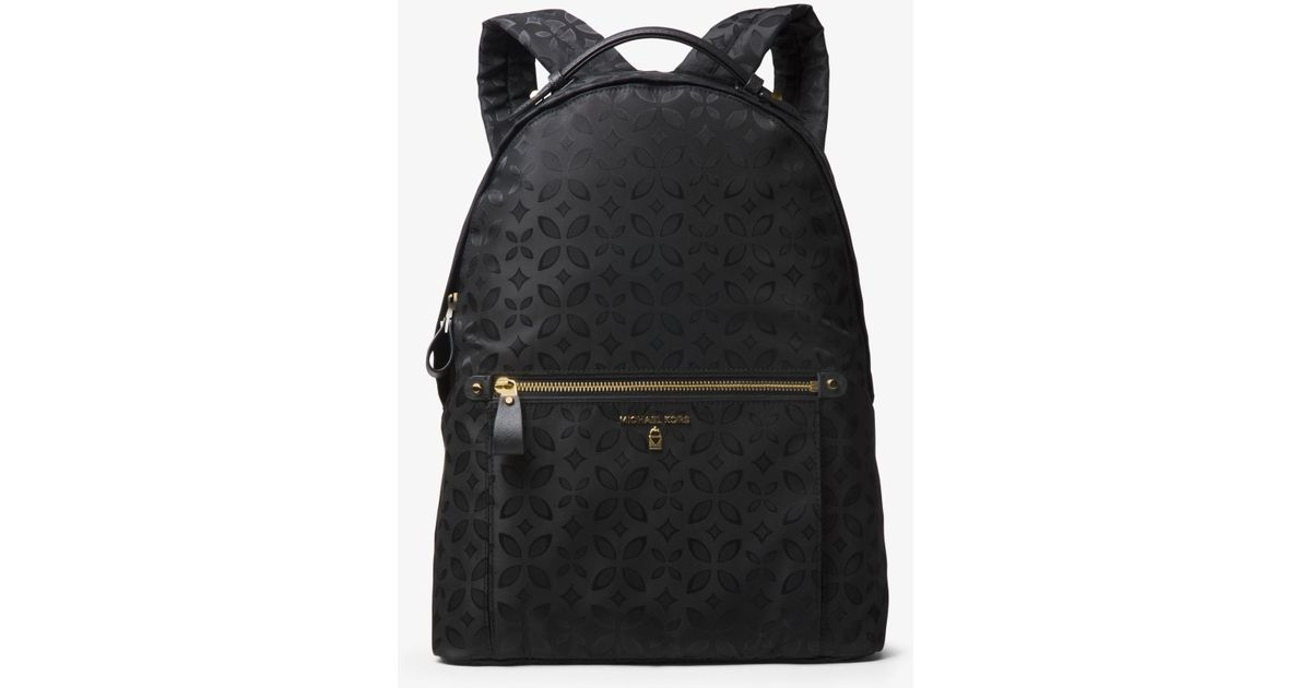 dd4d49ed8150 Lyst - Michael Kors Michael Nylon Kelsey Signature Backpack in Black