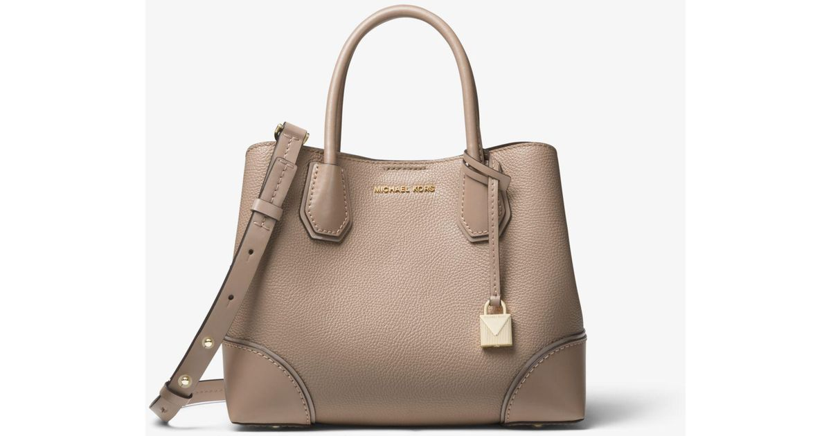 f4f9d2d32 Michael Kors Mercer Gallery Small Color-block Leather Satchel - Lyst