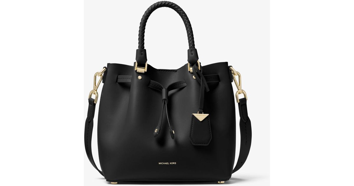 721d545b3e Lyst - Michael Kors Blakely Small Leather Bucket Bag in Black