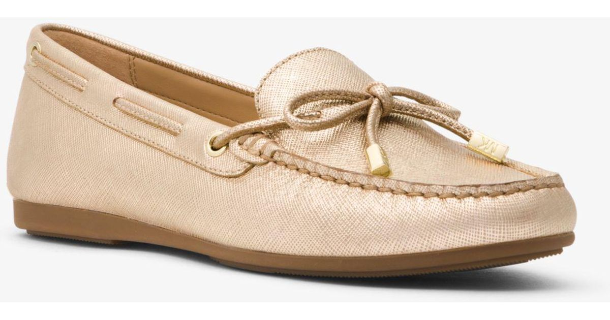 b4e503d4dd9 Lyst - Michael Kors Sutton Metallic Leather Moccasin in Metallic