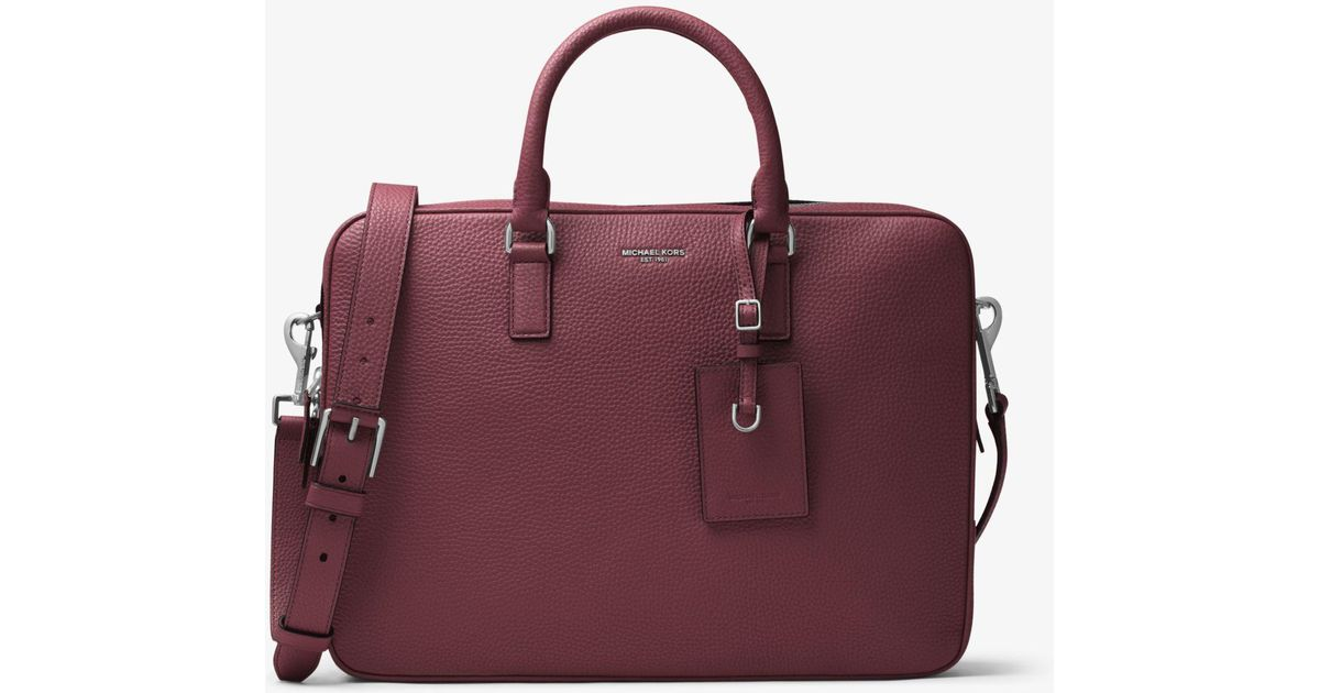 d733cf49915d Michael Kors Bryant Large Leather Briefcase for Men - Lyst