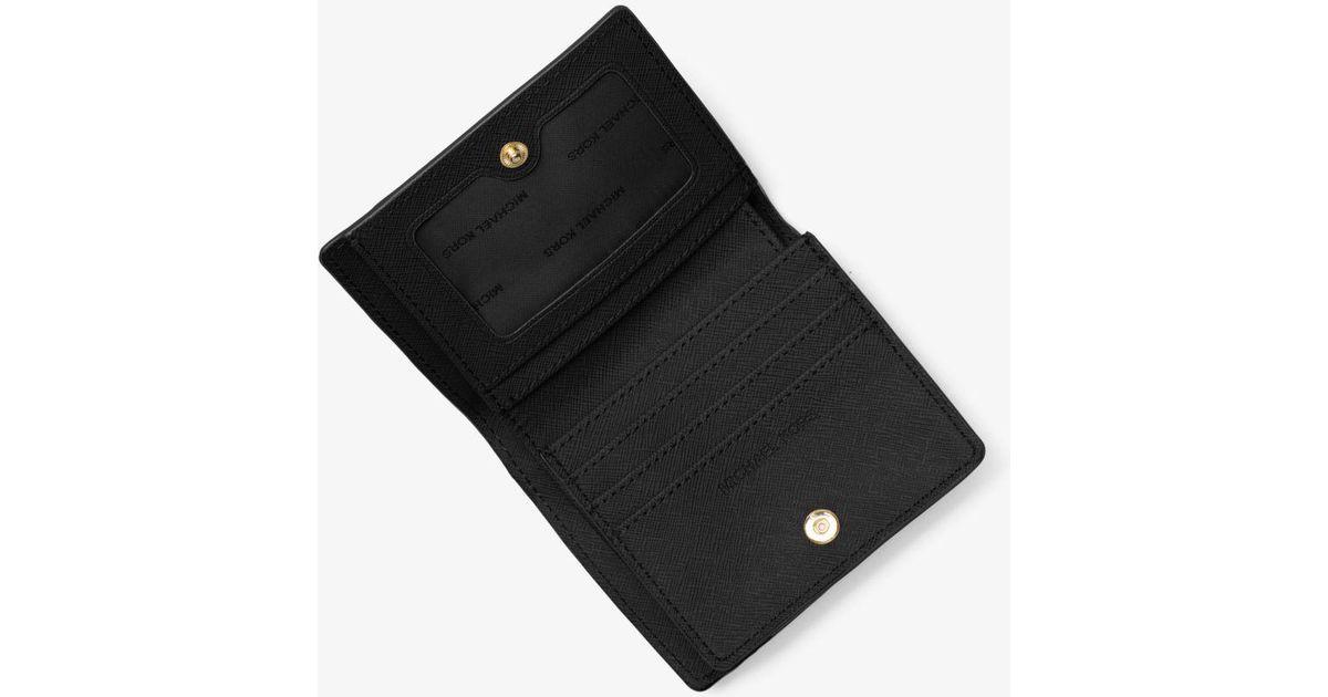 5f21003fc44f Lyst - Michael Kors Mercer Leather Card Case in Black