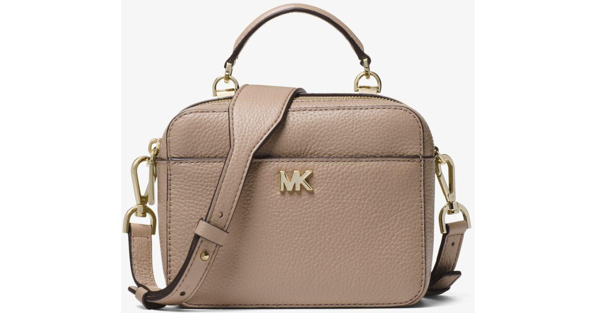 cca15aa149d3 Michael Kors Mott Mini Pebbled Leather Crossbody - Lyst