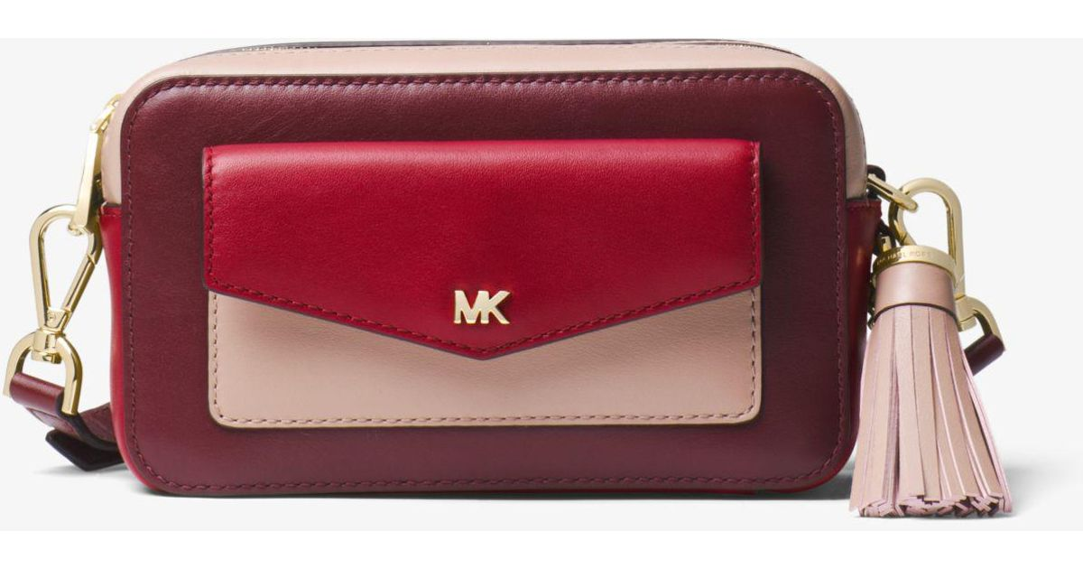 27bf09092684 Michael Kors Small Tri-color Leather Camera Bag - Lyst