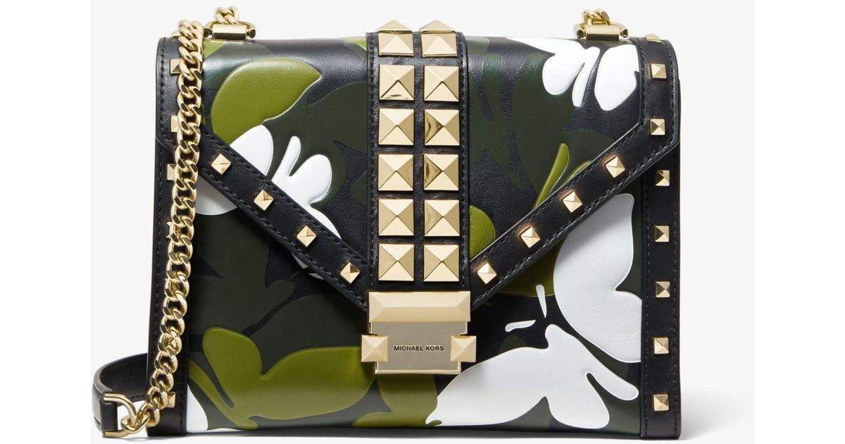 8a66f64a295b Lyst - Michael Kors Whitney Large Butterfly Camo Convertible Shoulder Bag  in Black