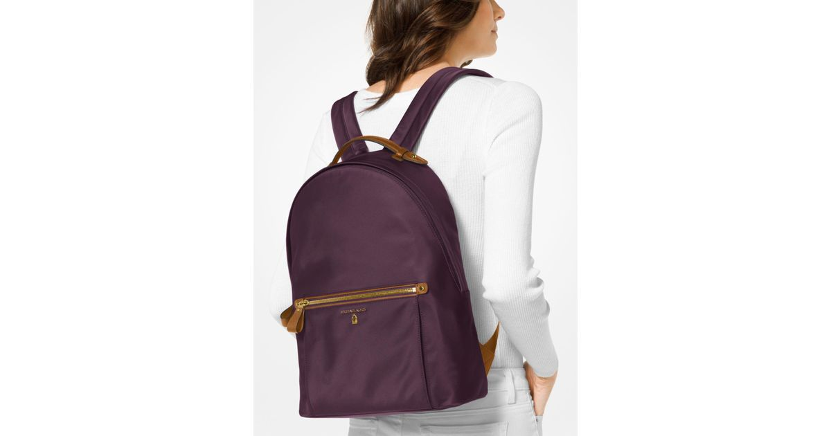 620e74d84752 ... where to buy lyst michael kors kelsey nylon backpack in purple 73425  53170