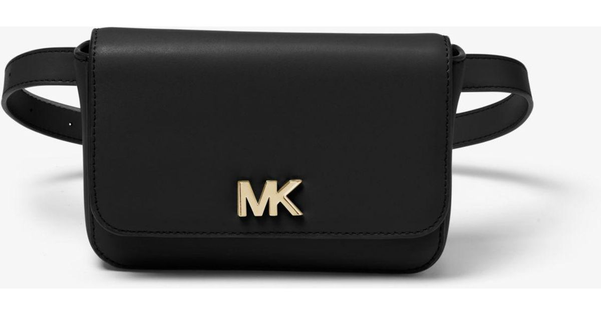 db3c2c3d9674 Michael Kors Mott Leather Belt Bag In Black Lyst