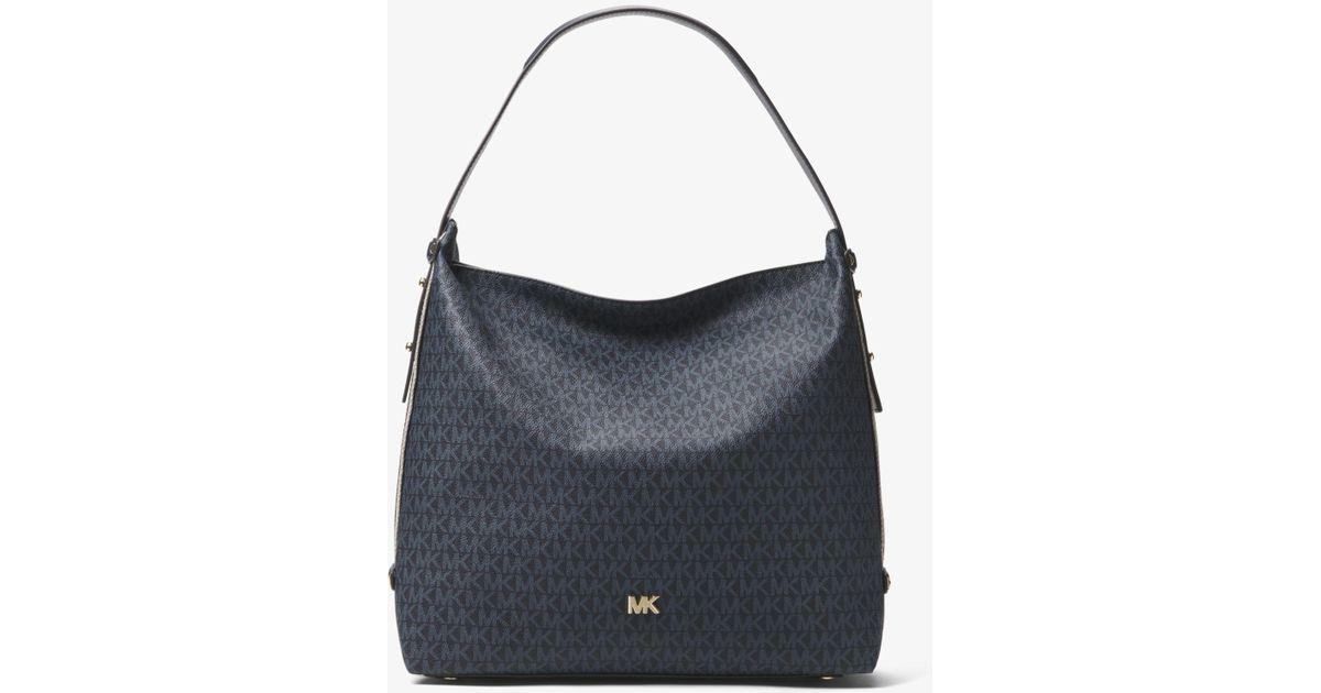 38be2489baef Michael Kors Griffin Large Logo Shoulder Bag - Save 20% - Lyst