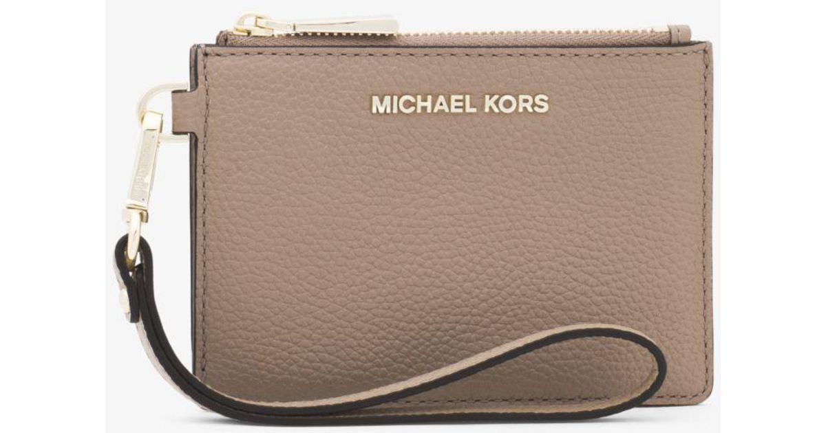 c05060a31f8a Michael Kors Color-block Pebbled Leather Coin Purse - Lyst