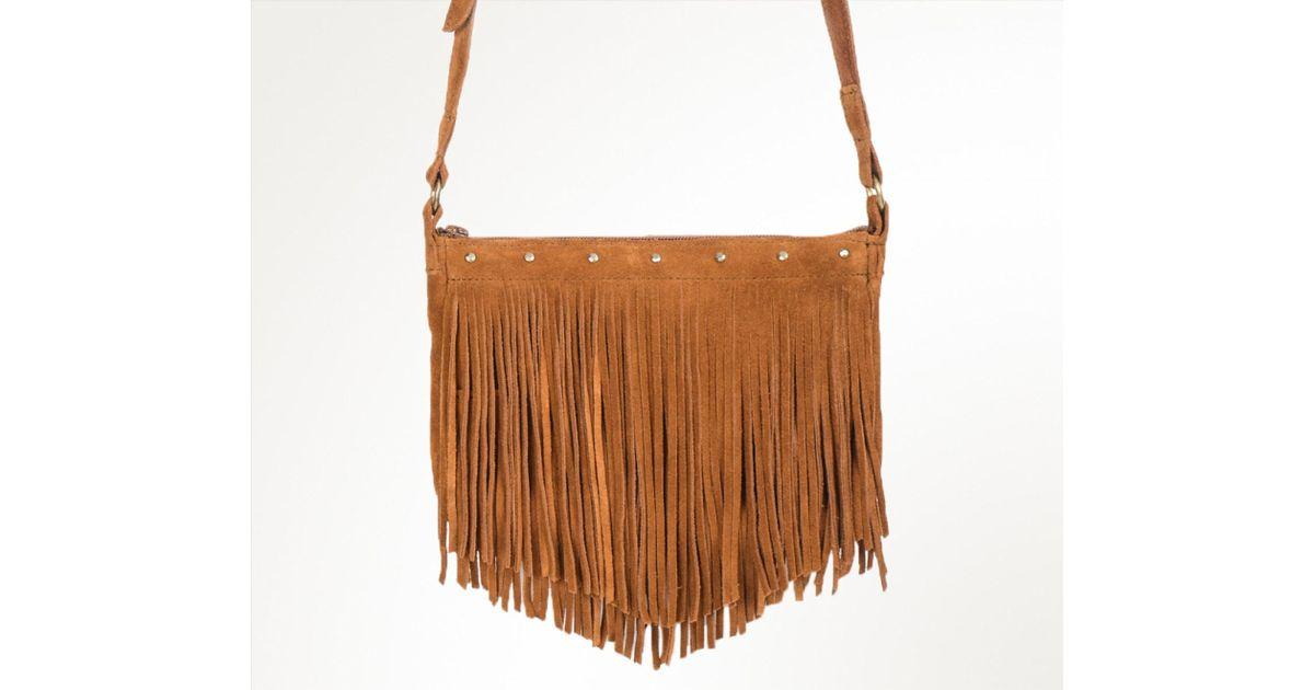 Lyst minnetonka lyndey fringe bag in brown jpg 1200x630 Brown fringe bag e9ce01382c52a