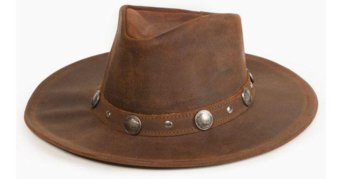 496c2ee9dfa Lyst - Minnetonka Buffalo Nickel Hat in Brown