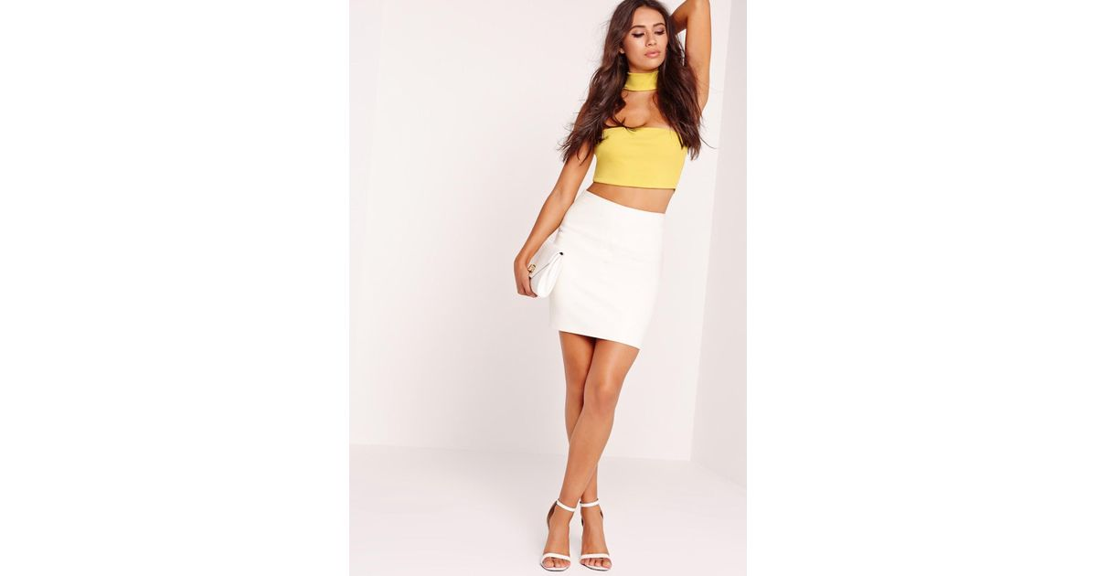6b7ccc35b20c0 Lyst - Missguided Choker Plunge Bralet Yellow in Yellow