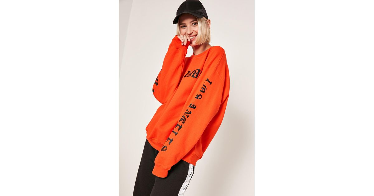 f2a6694e7 Lyst - Missguided Orange 1986 La Sweatshirt in Orange