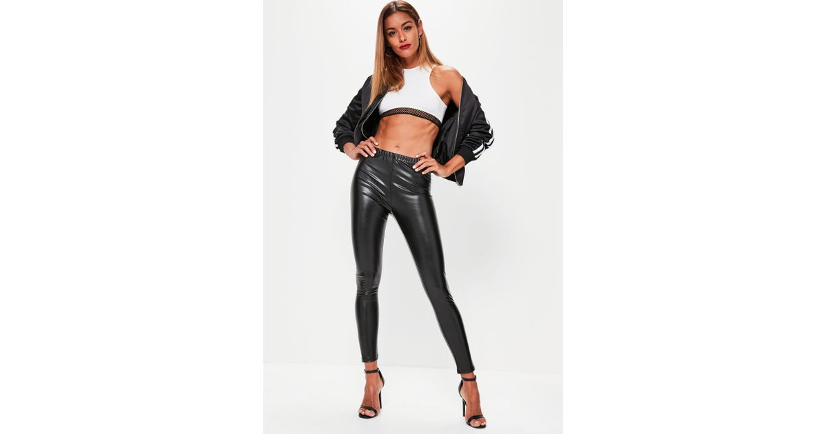 up-to-datestyling factory outlets sale online Missguided - Black Faux Leather Leggings - Lyst