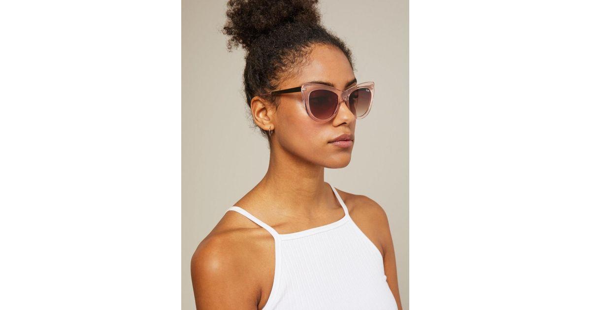 8192e032adb Lyst - Miss Selfridge Quay Australia Steal A Kiss Pink Sunglasses in Pink