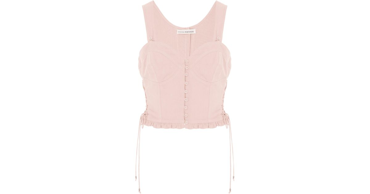 8e70a5549 Lyst - Ulla Johnson Thea Suiting Top in Pink