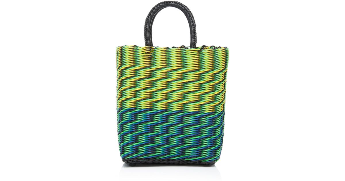 Truss Small Tube Weave Tote With Detachable Beaded Fob ZdPHQ9yLV