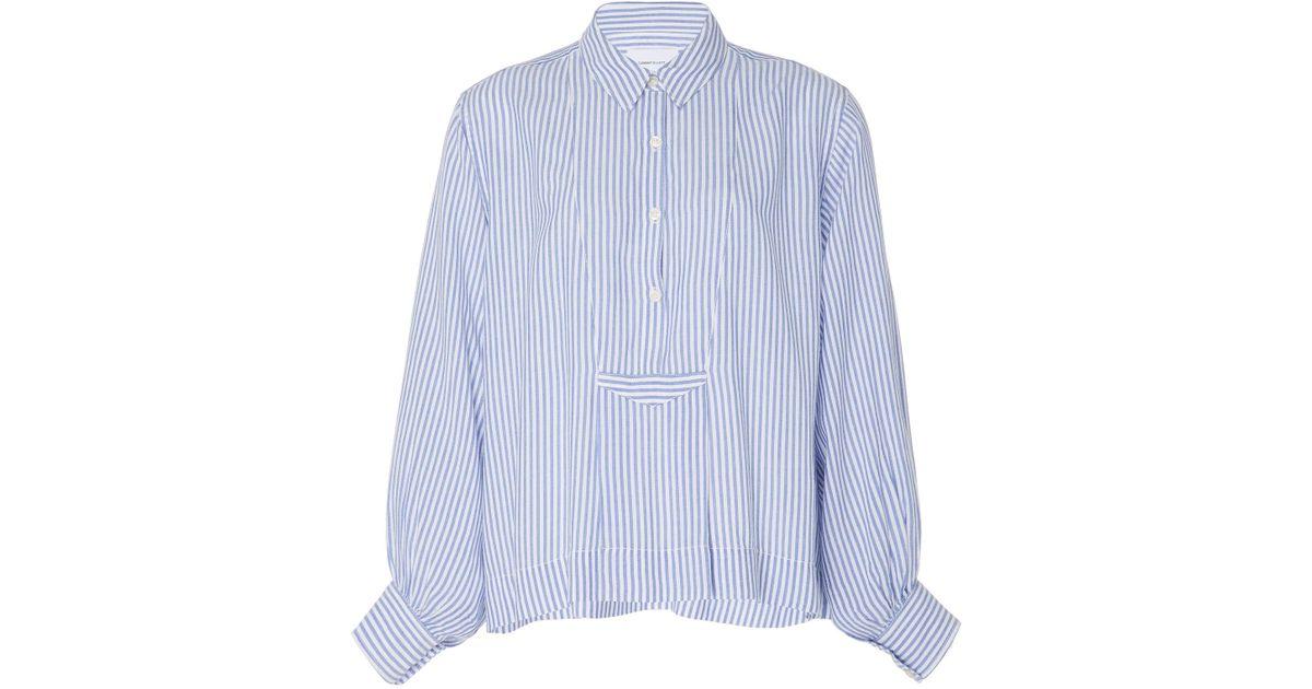 6413d920 Lyst - Current/Elliott Emmy Striped Cotton Top in Blue