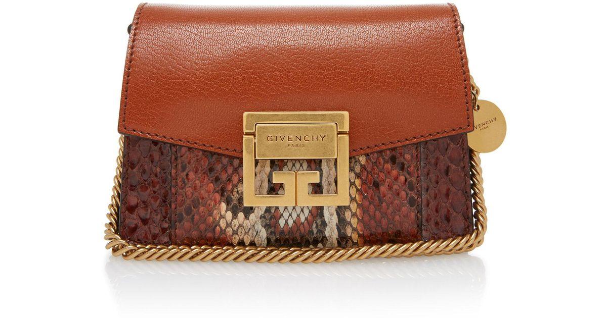 Givenchy GV3 Mini Snake-Effect Leather Shoulder Bag WQf1ZJvw