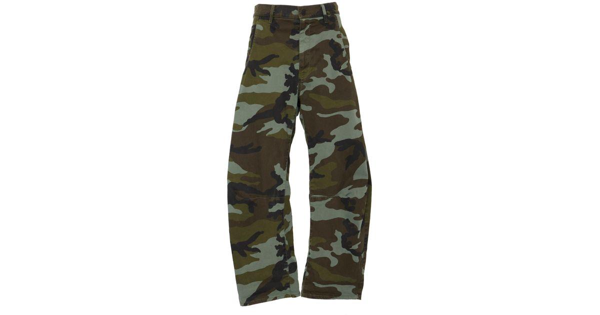 Emerson Camouflage-print Stretch-cotton Wide-leg Pants - Green Nili Lotan ZzaIiv