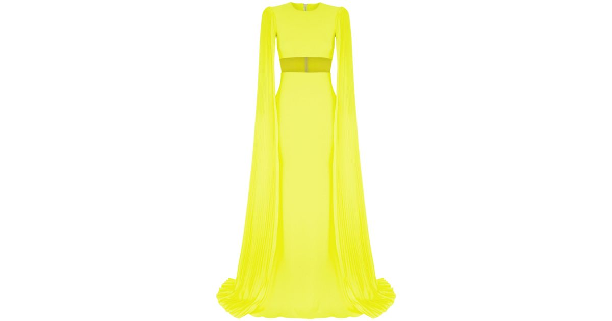 Raina Sheer Long Sleeve Gown Alex Perry 1F5xQRXX