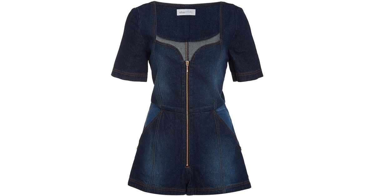 eac32a665a5 Lyst - Alice McCALL See You Bye Playsuit in Blue