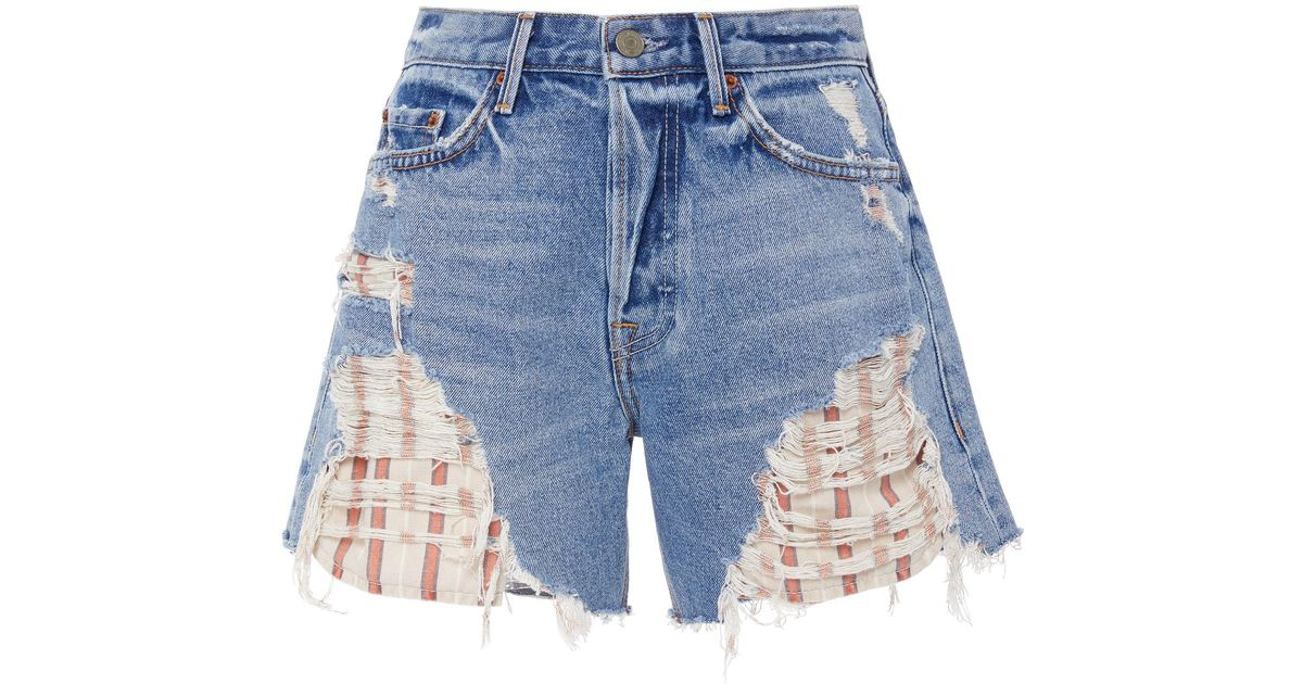 Jourdan Distressed Exposed Stripe Pocket Short GRLFRND R6PEf