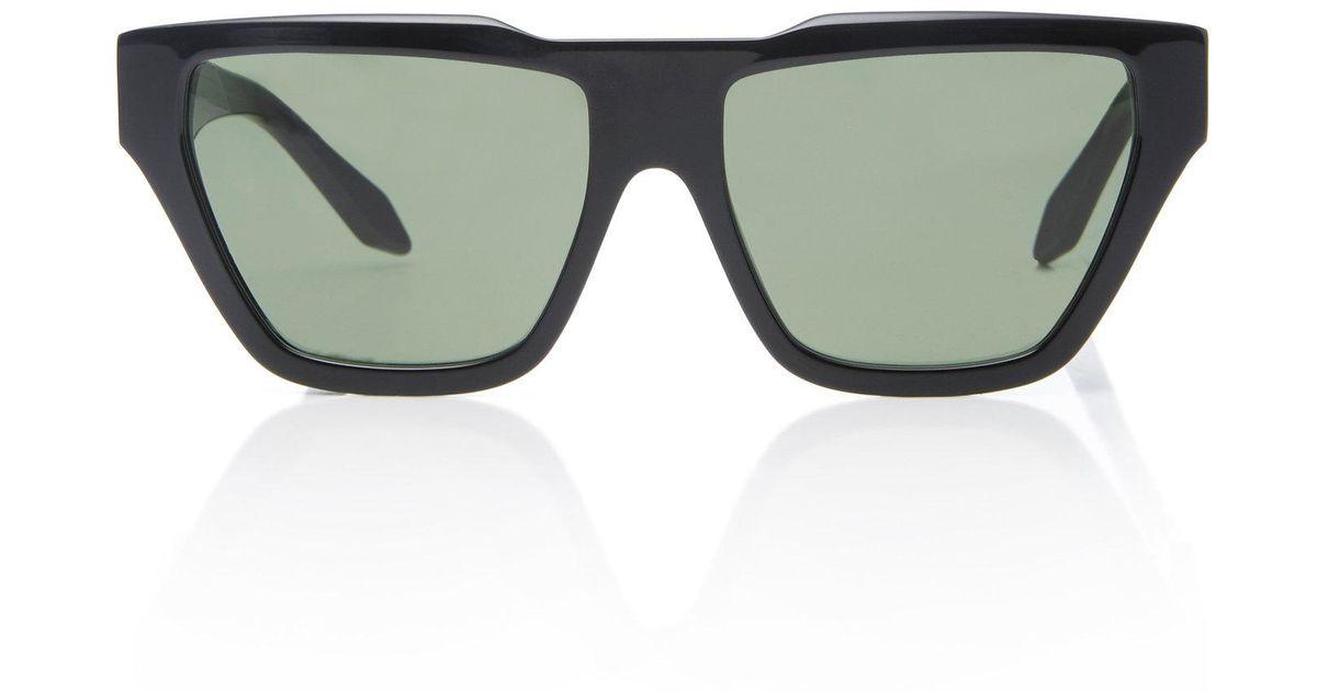 196d989961 Victoria Beckham Square Cat Eye Sunglasses in Black - Lyst