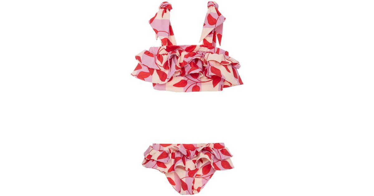 49008da071 Johanna Ortiz M'o Exclusive Ruffled Baby Girl Bikini Set in Red - Lyst