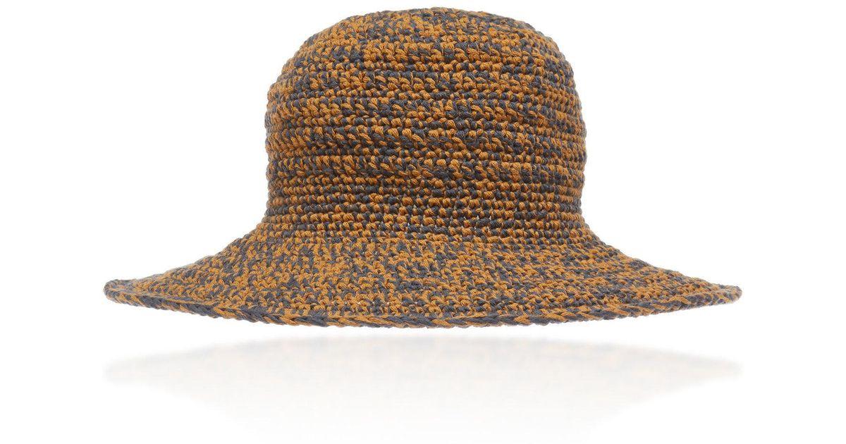 Lyst - Etro Woven Bucket Hat in Orange c8706ccb257