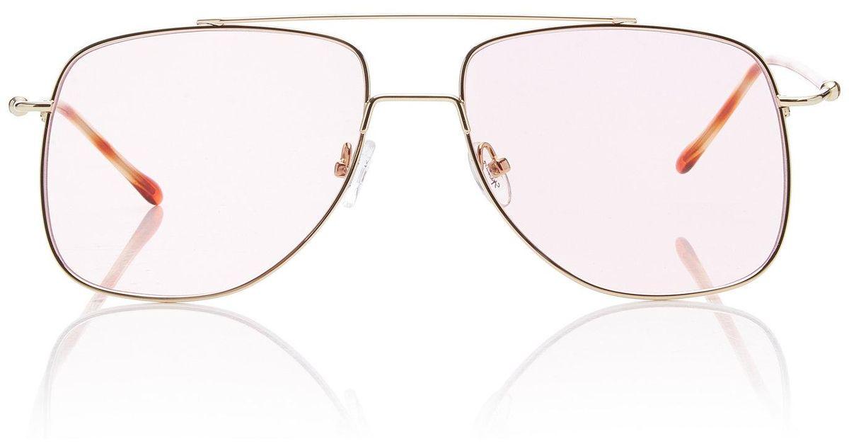 d1e95a711 Spektre Maranello Aviator-style Silver-tone Sunglasses in Pink - Lyst