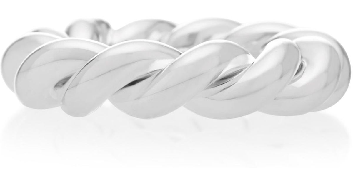 Sterling Silver Twisted Ring Isabel Lennse 1677SlDB
