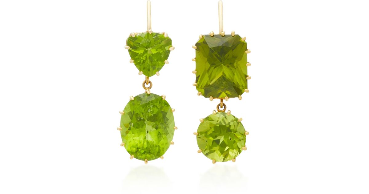 diana genuine products princess earrings birthstone peridot august