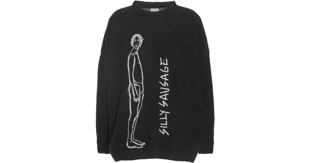 646a36b25c Loewe Silly Sausage Stitch Sweater in Black - Lyst