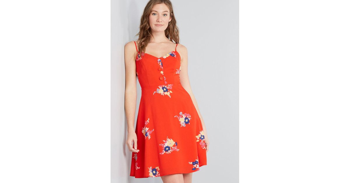 72f6c521c44c Lyst - ModCloth Living Lightheartedly Sundress in Red
