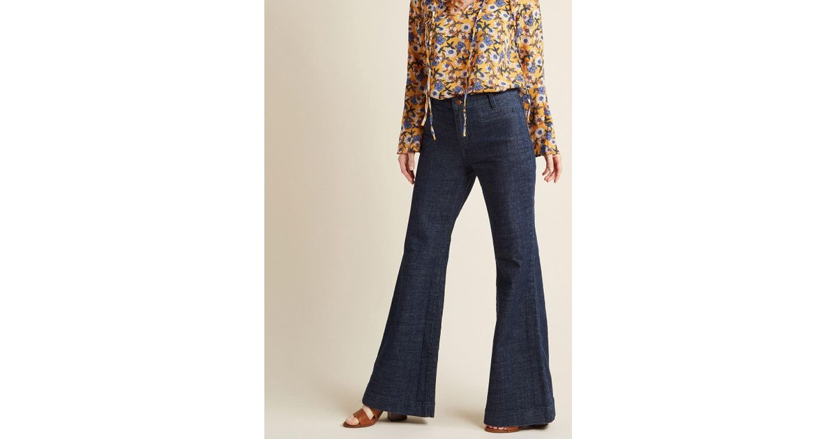 c2dff4f2a8a Lyst - Wrangler Wide-leg Whim Jeans In Dark Wash - 33